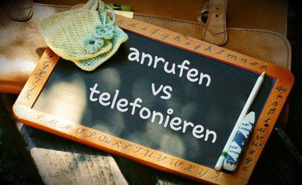 Czasownikowe porady (anrufen czy telefonieren?)