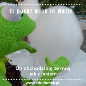 Kermit jedzący watęcukrową.