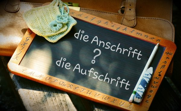 """""""Die Anschrift"""" oder """"die Aufschrift"""" ?"""